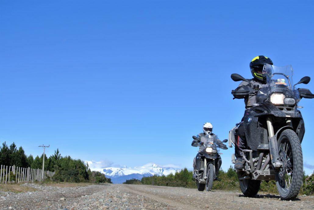 In moto sulle strade della Patagonia